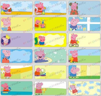 Medium Peppa Pig Name Stickers