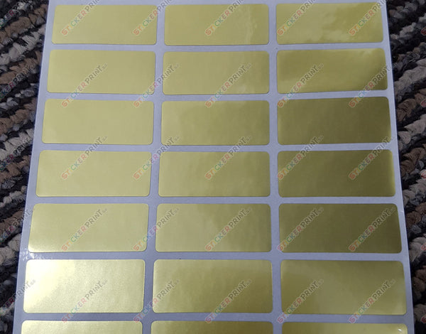 Medium Plain Gold Name Stickers