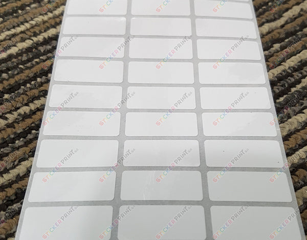 Medium Plain White Name Stickers
