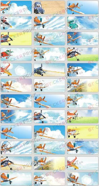 Medium Disney Planes Name Stickers