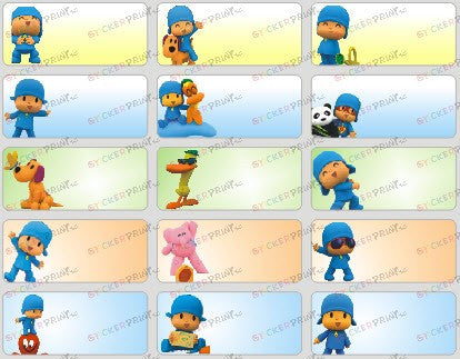 Medium Pocoyo Name Stickers