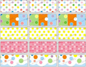 Medium Polka Dots Name Stickers
