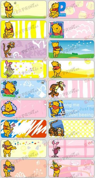 Large Winnie The Pooh Name Stickers