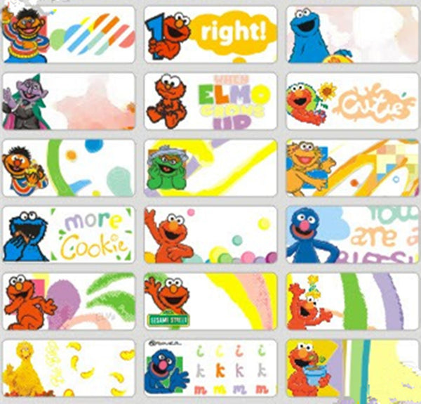 Medium Sesame Street Name Stickers
