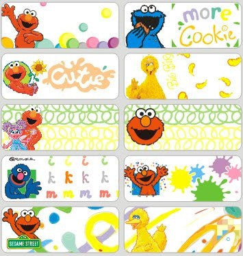 Large Sesame Street Name Stickers