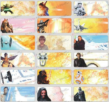 Medium Star Wars Name Stickers