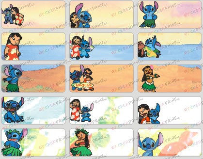 Medium Lilo & Stitch Name Stickers