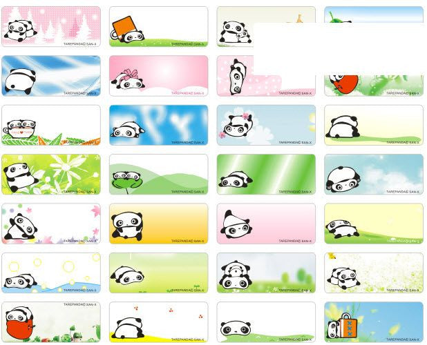Small Tare Panda Name Stickers