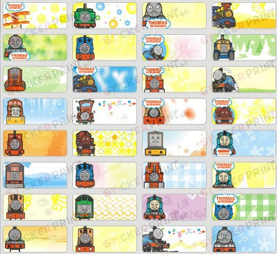 Small Thomas & Friends Name Stickers