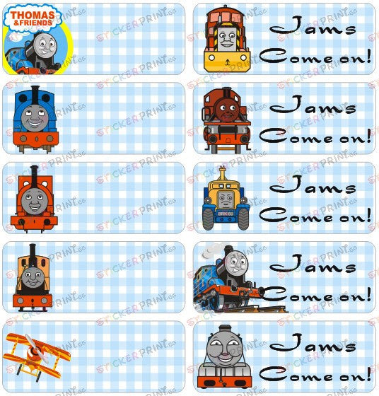 Large Thomas & Friends Name Stickers