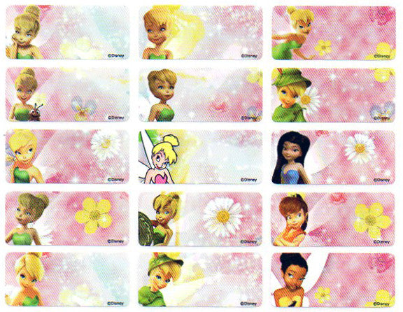 Medium Tinkerbell Name Stickers