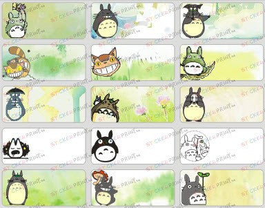 Medium Totoro Name Stickers