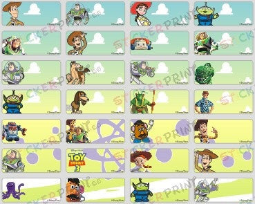 Small Toy Story Name Stickers