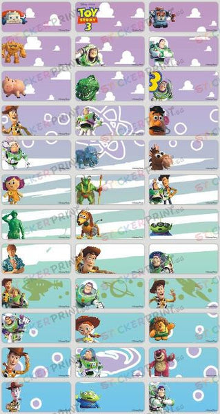 Medium Toy Story Name Stickers