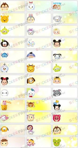 Medium Tsum Tsum Name Stickers