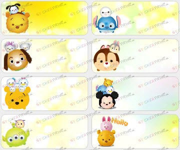 Large Tsum Tsum Name Stickers