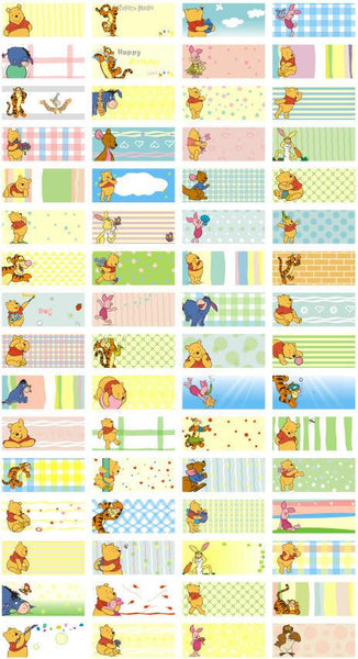 Small Winnie The Pooh Name Stickers