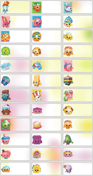 Medium Shopkins Name Stickers