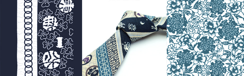 Katagami, Katazome, and Olaf Olsson Neckties and Batwing Bow Ties