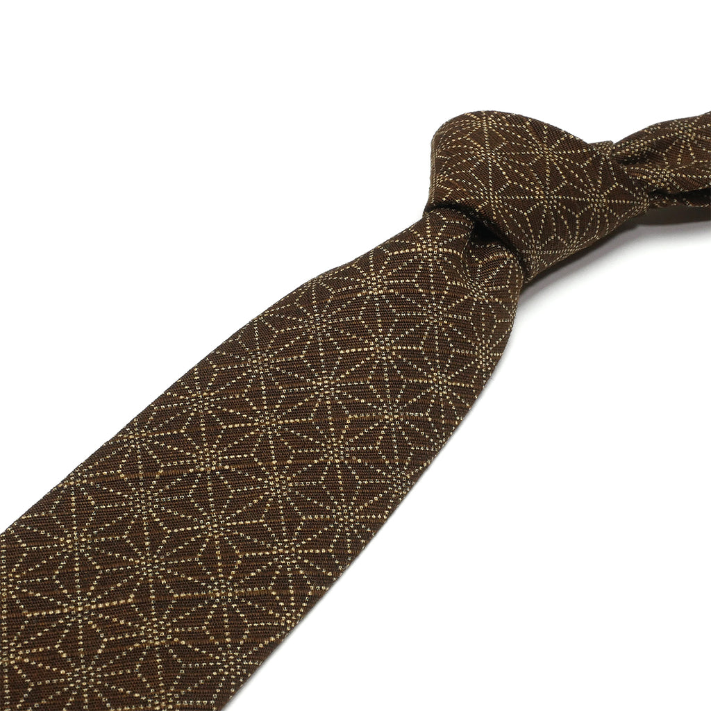 Brown Asanoha Necktie