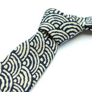 Indigo Waves Necktie