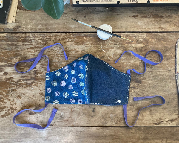Indigo Dotto Face Mask