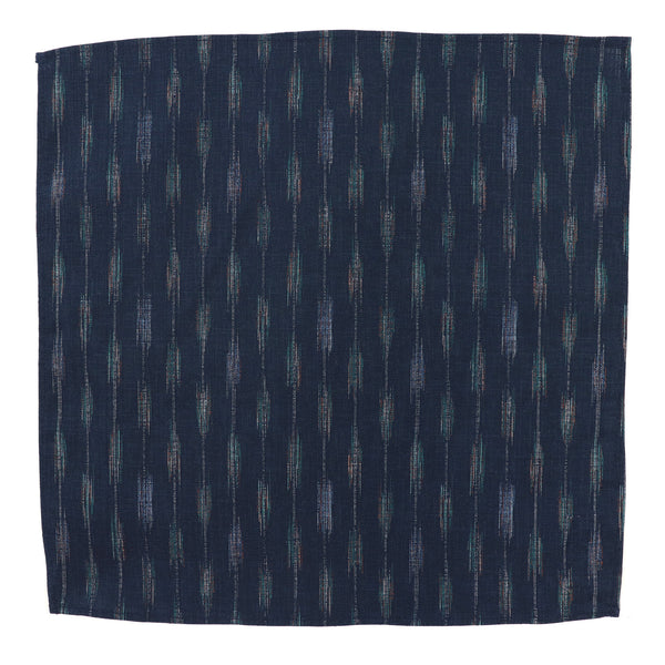 Yagasuri Blue Pocket Square