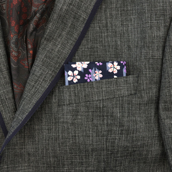 Cherry Yagasuri Pocket Square