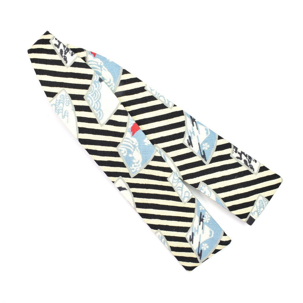 Mt Fuji Stripes Batwing Bow Tie