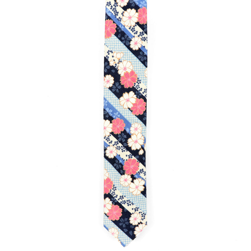 Sakura Stripes Necktie