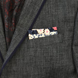 Sakura Stripes Pocket Square