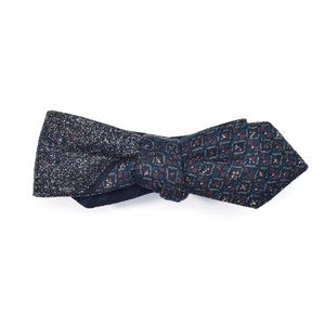 Sashiko Stars Diamond Point Bow Tie