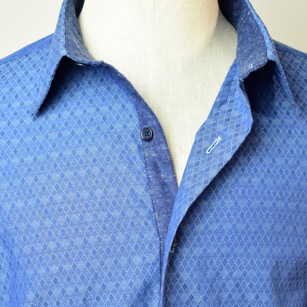 Diamond Indigo Jacquard Shirt