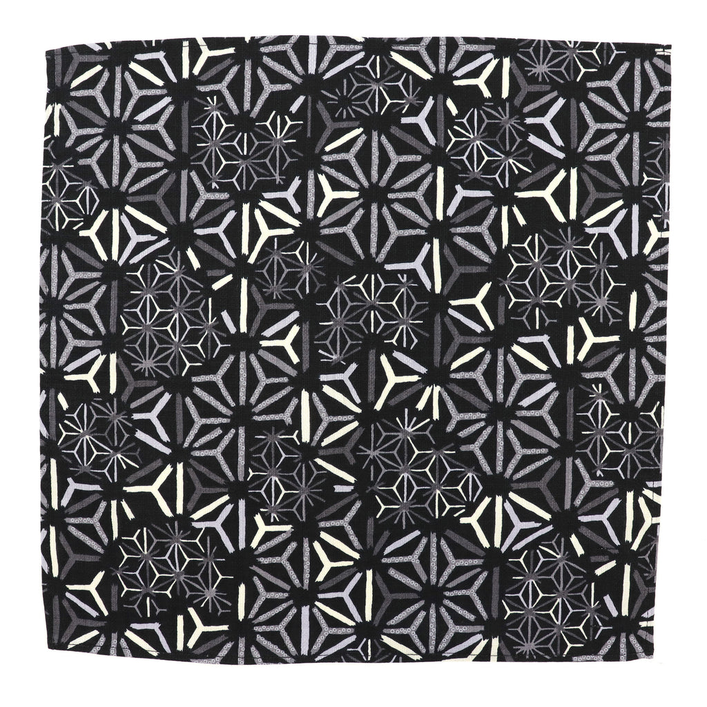 Steel Asanoha Pocket Square