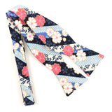 Sakura Stripes Bow Tie