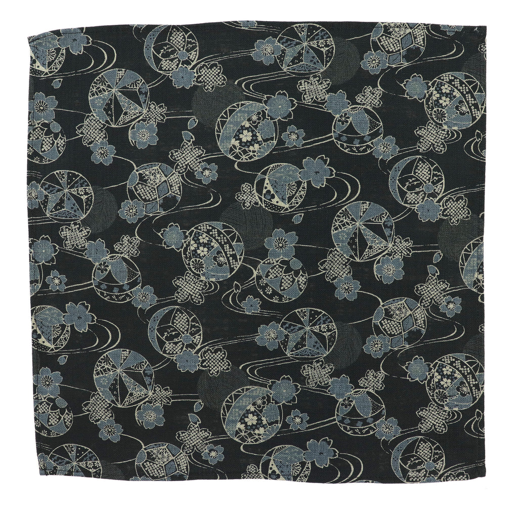Indigo Temari Pocket Square