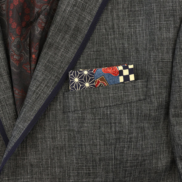 Moyō Stripes Pocket Square
