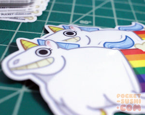 Farting Unicorn Vinyl Sticker