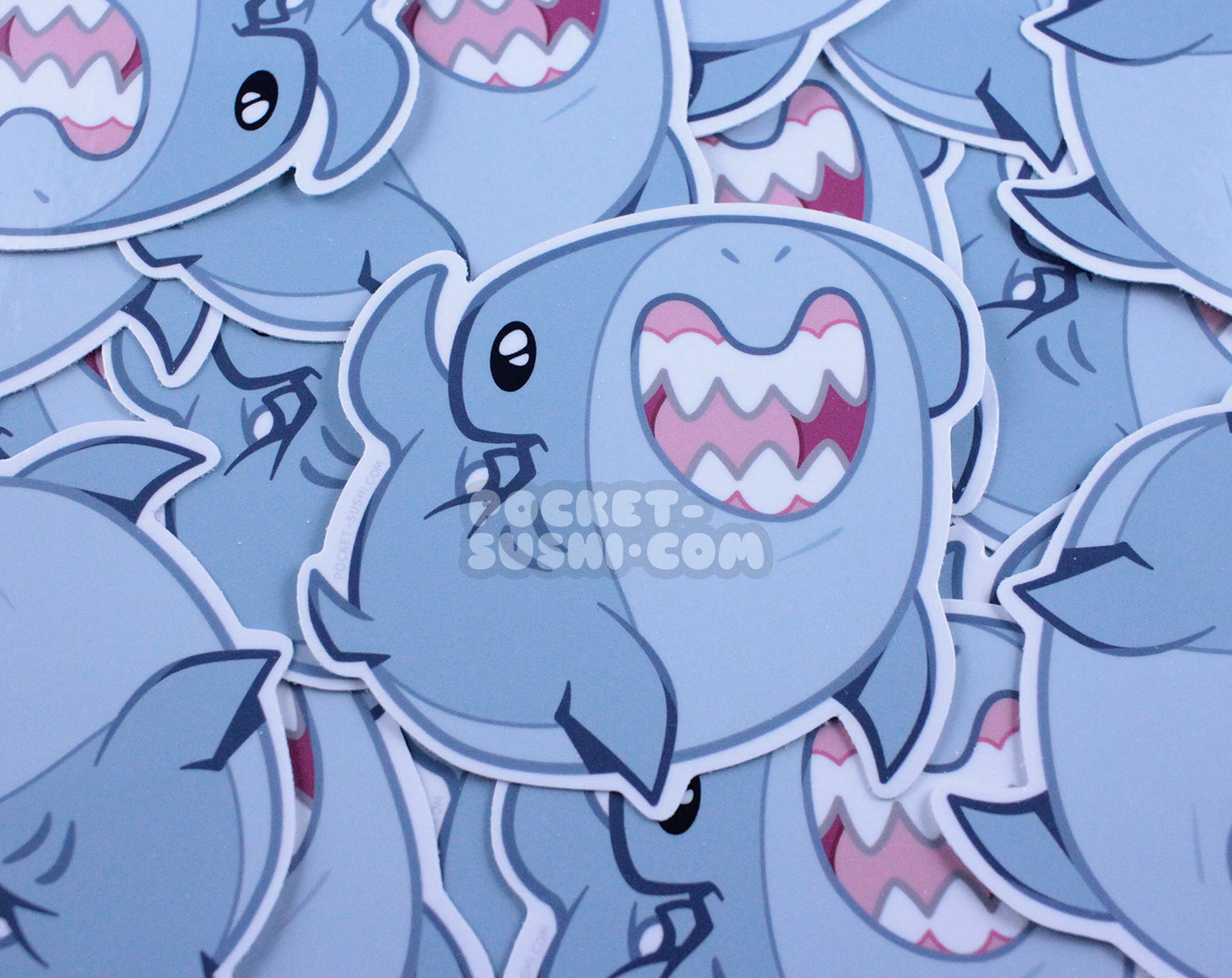 Happy Hammerhead Shark Vinyl Sticker