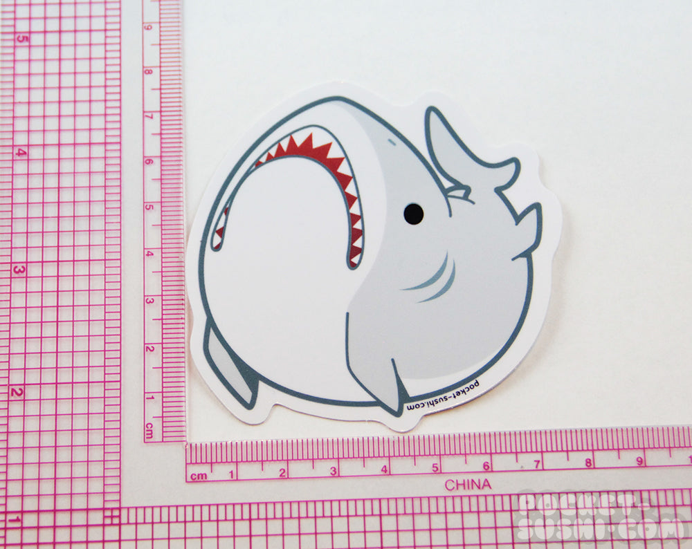 Derpy Shark Vinyl Sticker
