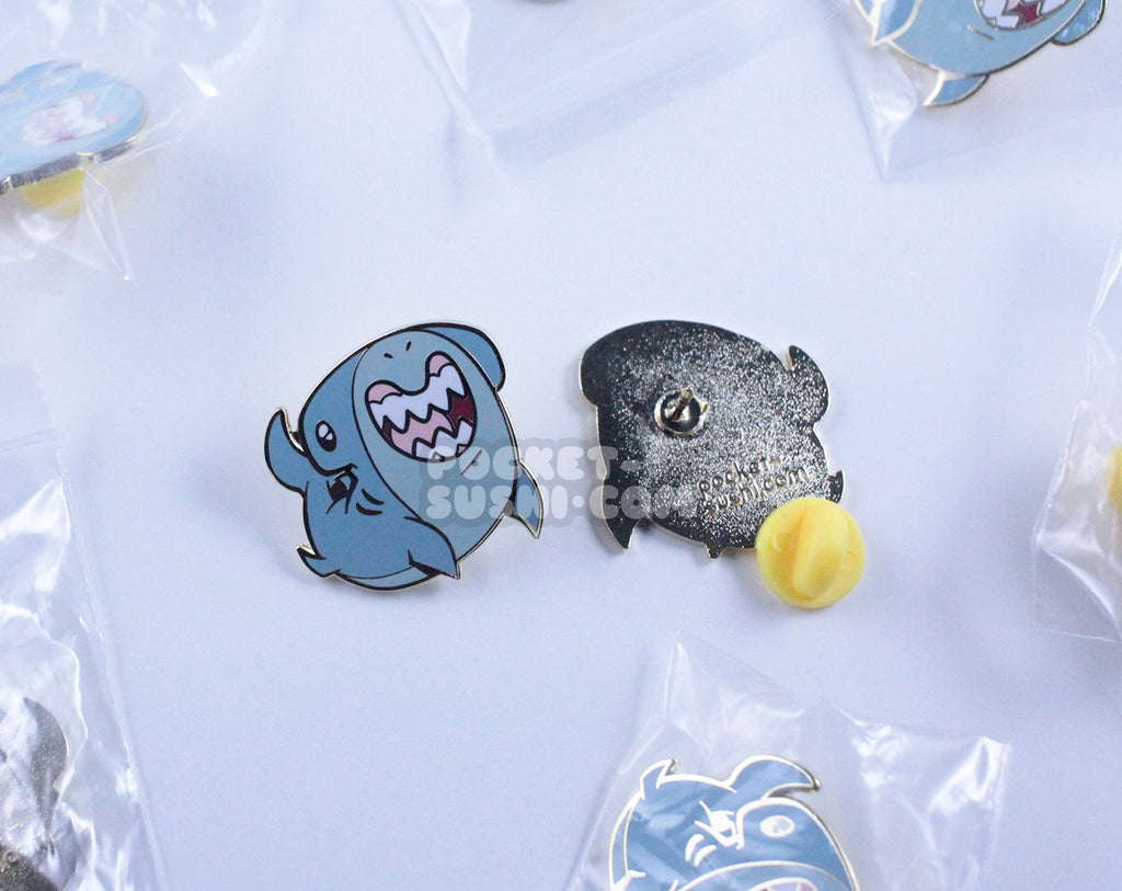 Happy Hammerhead Shark Enamel Pin