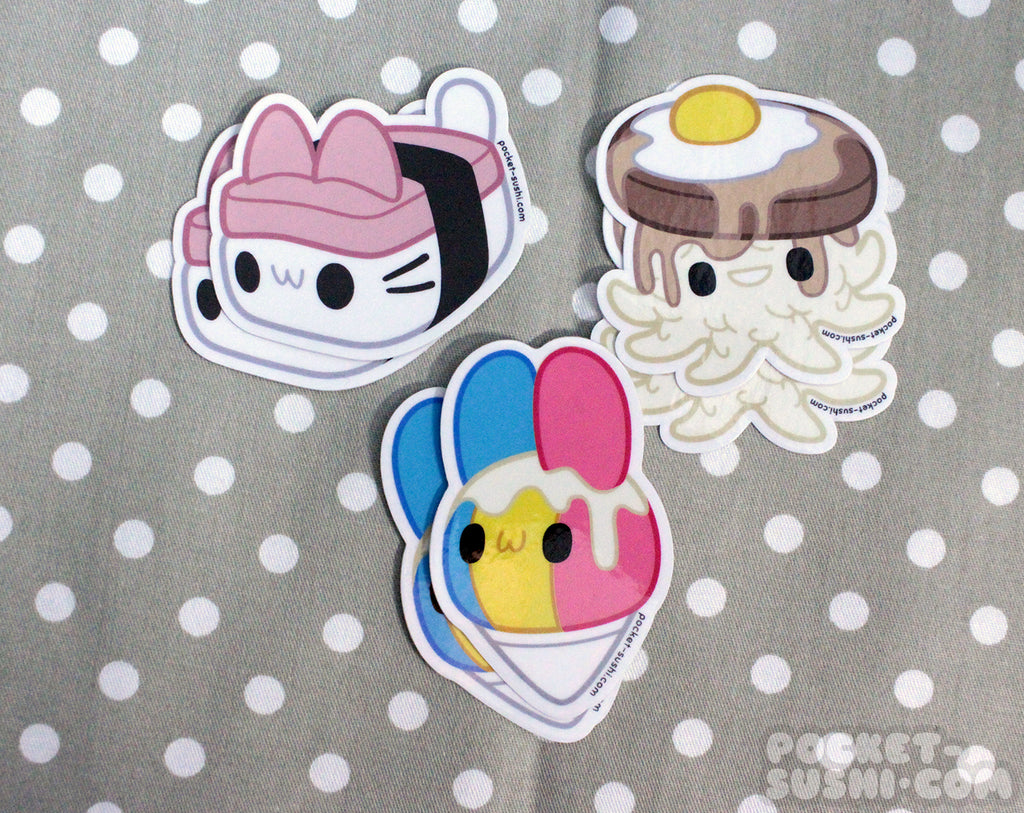 Kawaii Hawaii Vinyl Sticker Pack