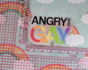 ANGRY and GAY Acrylic Charm