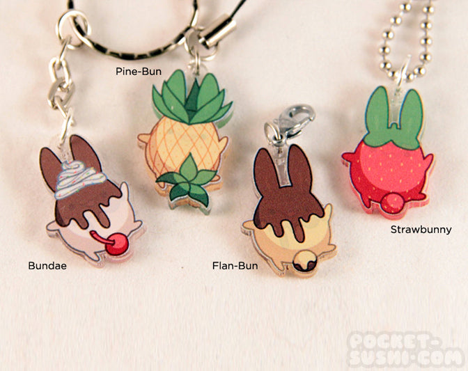 Cute Food Bunny Acrylic Charm