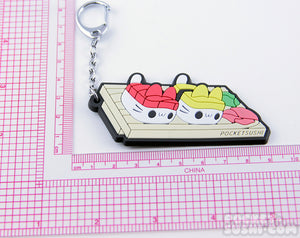 Sushi Cats Rubber Keychain