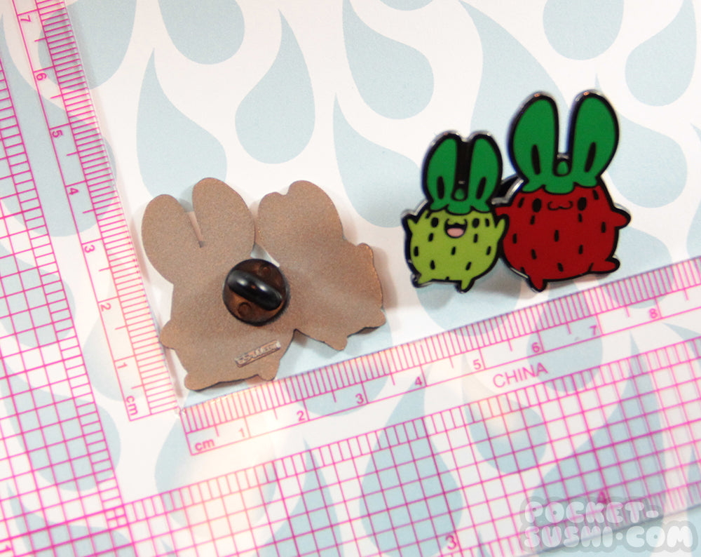 Strawbunnies Enamel Pin