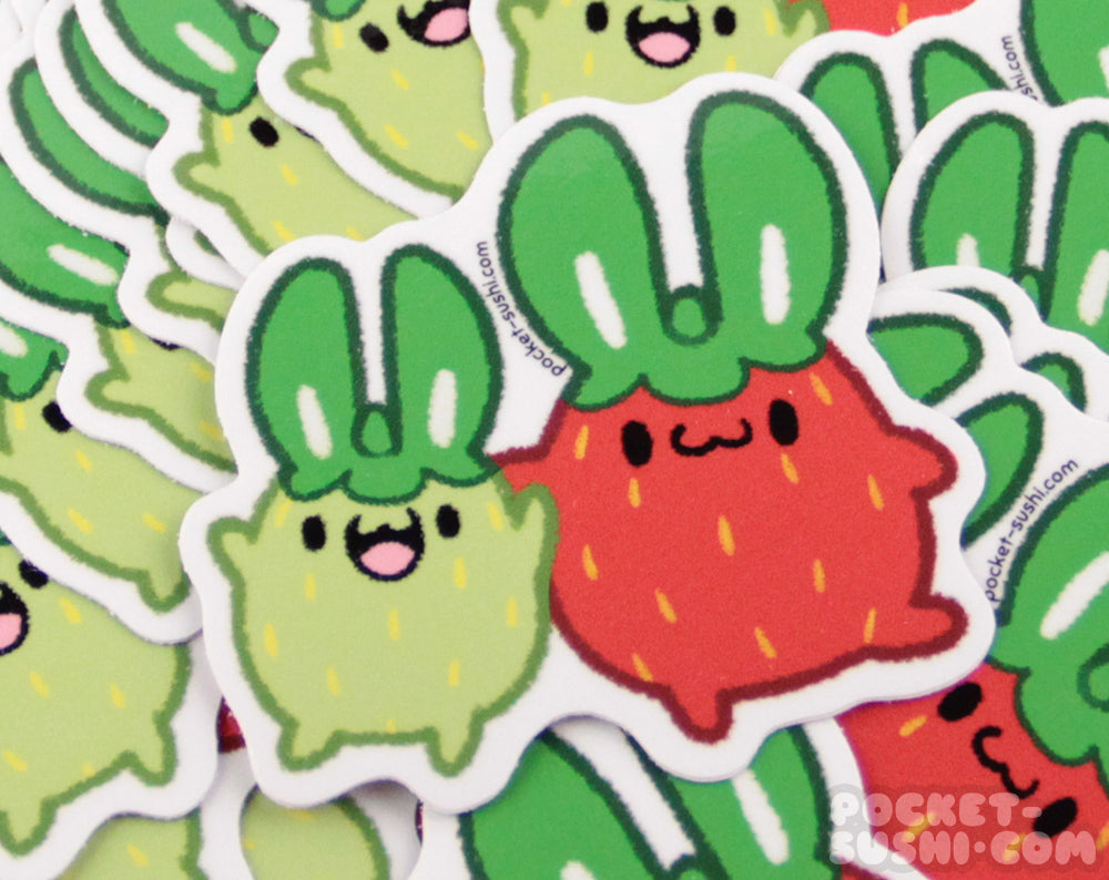 Strawbunnies Vinyl Sticker