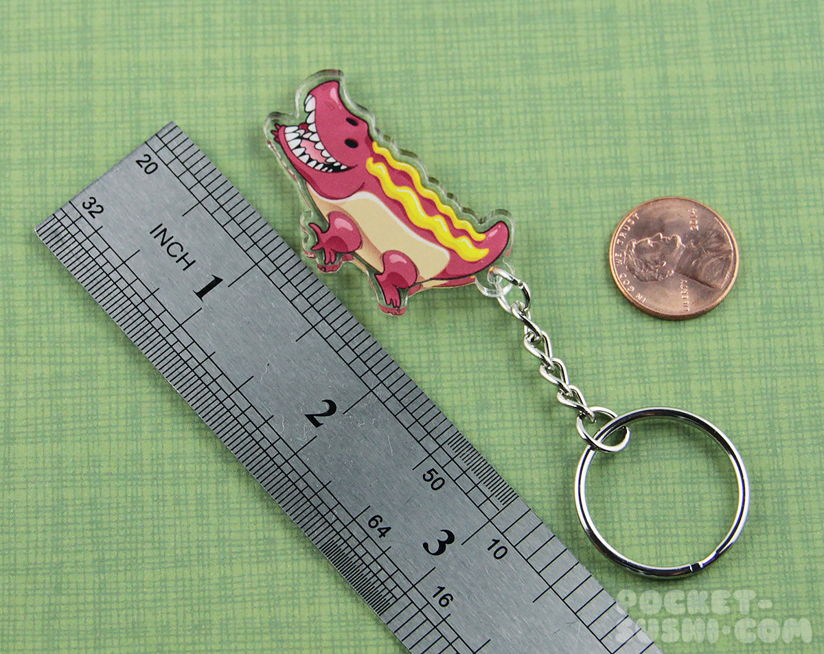 Hot Dog Gator Acrylic Charm