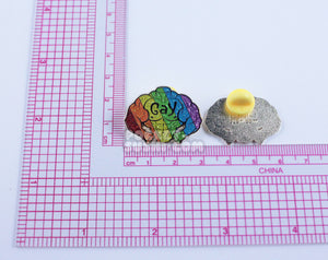 Muscular GAY Pride Rainbow Enamel Pin