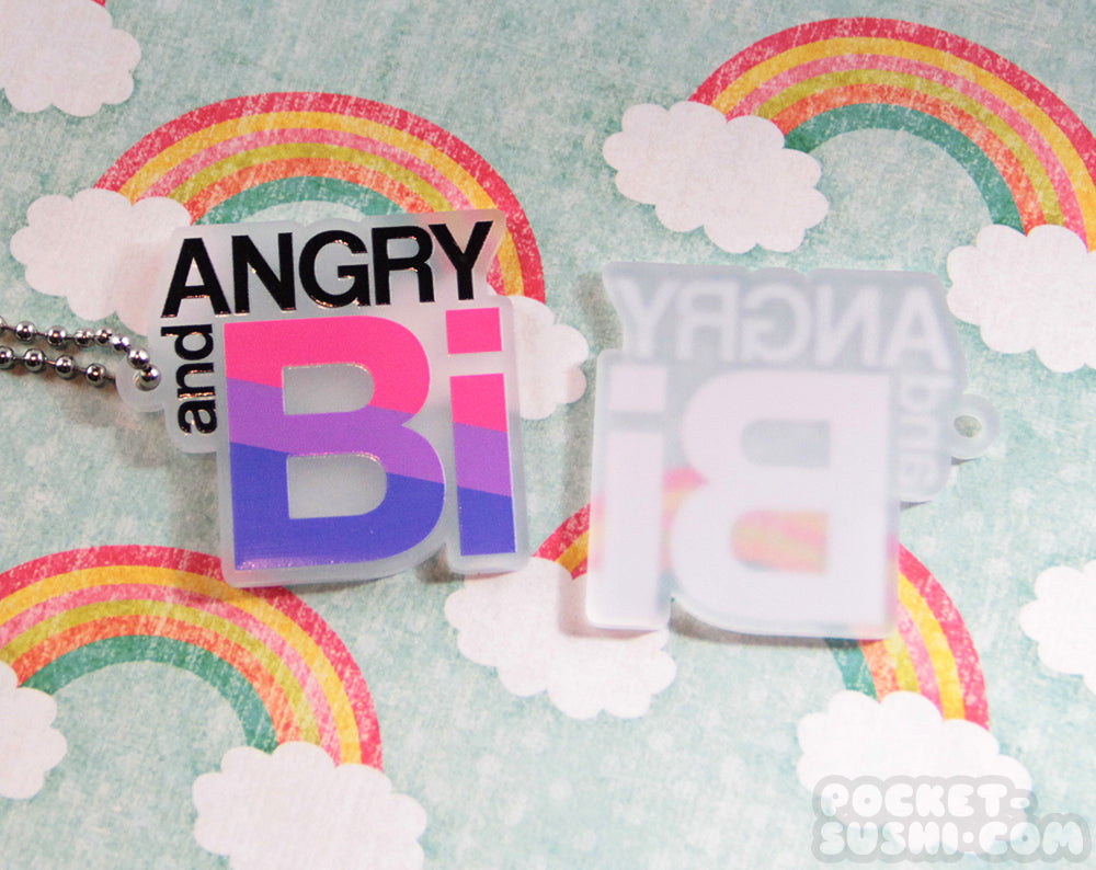 ANGRY and BI Acrylic Charm